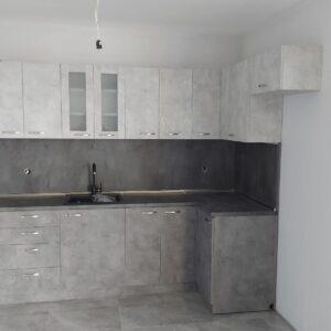 """Кухня """"Светло сив бетон"""" по поръчка на клиент"""